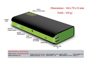 Mini Booster 600 A de Batterie