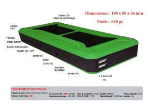 Mini booster 900 A de batterie